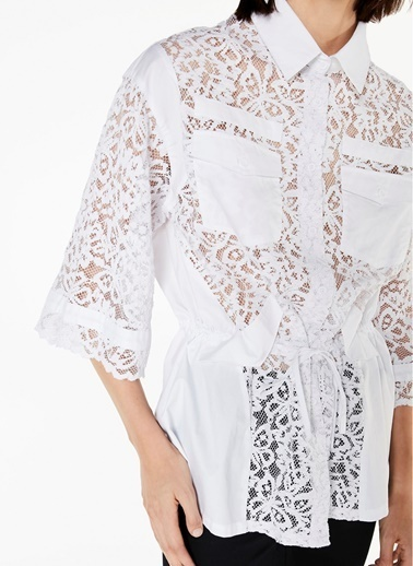 Dantel Detaylı Gömlek Bluz-Twist